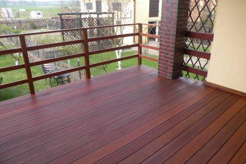 Taras drewniany